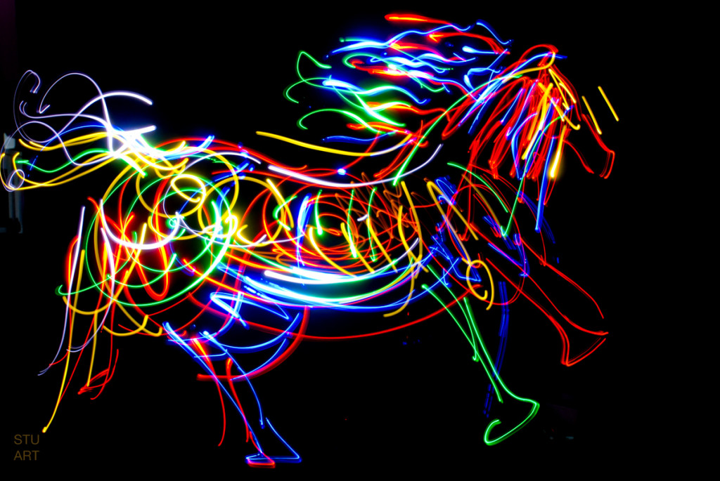 light drawn horse image